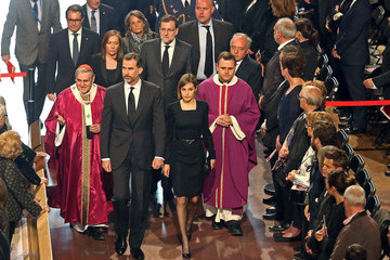 Queen Letizia of Spain State Funeral For Germanwings Accident's Victims