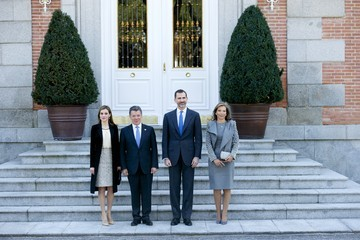 Queen Letizia of Spain Spanish Royals Receive President Of Colombia