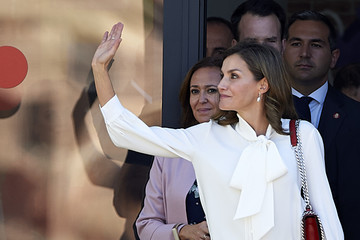 Queen Letizia Spanish Royals Attend the Opening of Professional Courses in Teruel