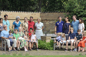 Queen Margrethe Danish Royal Family Hold Annual Summer Photo Call