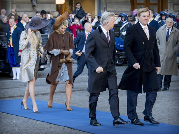 Queen Mathilde of Belgium and King Philippe of Belgium On A 3 Day Official Visit In Holland : Day One