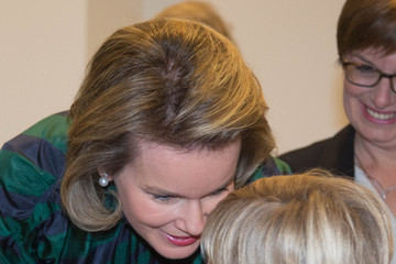 Queen Mathilde of Belgium Queen Mathilde of Belgium Visits CeMaVie Medical Center In Brussels