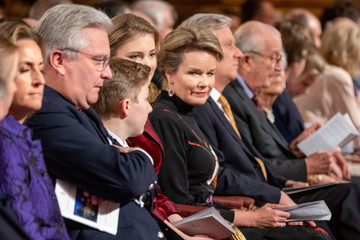 Queen Mathilde of Belgium Belgian Royal Family Attends Christmas Concert At Royal Palace In Brussels