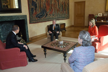 Queen Mathilde of Belgium King Philippe of Belgium Receives Ban Ki-moon at Rotal Palace in Brussels