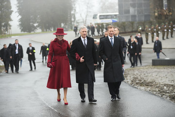 Queen Mathilde King Philippe Of Belgium And Queen Mathilde Attend The 75th Battle Of The Bulge Anniversary Remembrance Ceremony In Bastogne