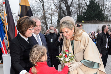 Queen Maxima King Willem-Alexander And Queen Maxima Of The Netherlands Visit Saxony-Anhalt - Day 1