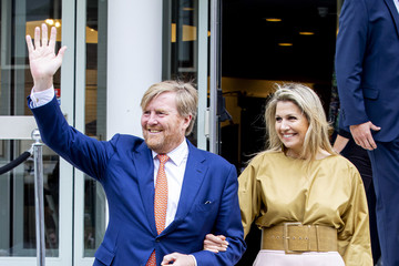 Queen Maxima King Willem-Alexander Of The Netherlands And Queen Maxima attend Award The Oranje Fonds Ceremony In Hilversum