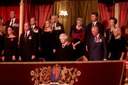 Queen Elizabeth II (C), with (L-R) Catherine, Duchess of Cambridge, Prince William, Duke of Cambridge, Prince Edward, Earl of Wessex, Sophie, Countess of Wessex, Birgitte, Duchess of Gloucester, Sir Tim Lawrence, Prince Charles, Prince of Wales, Princess Anne, Princess Royal and Camilla, Duchess of Cornwall attend the annual Royal British Legion Festival of Remembrance at the Royal Albert Hall on November 09, 2019 in London, England.