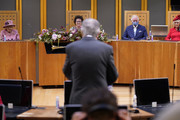 The Queen, The Prince Of Wales And The Duchess Of Cornwall Attend The Opening Ceremony The Senedd In Cardiff