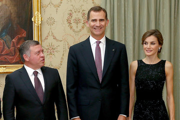 Queen Rania Spanish Royals Host a Dinner for Jordan Royals