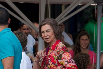 Queen Sofia Spanish Royals at the Calanova Nautic Club