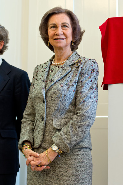 Queen Sofia of Spain attends the Inauguration of the Reina Sofia Cervantes Institute Library during an official visit on April 30, 2014 in London, England.