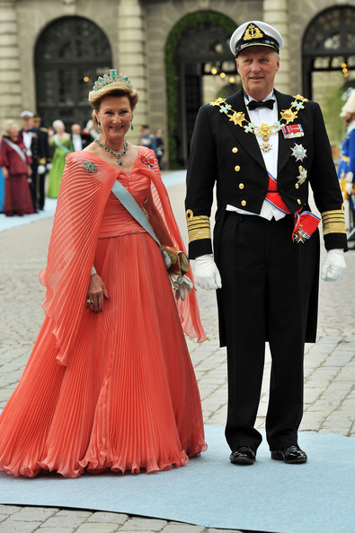 King Harald and Queen Sonja - Wedding Of Swedish Crown Princess Victoria & Daniel Westling - Arrivals