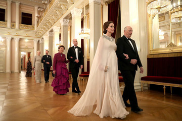 Queen Sonja The Duke and Duchess of Cambridge Visit Sweden and Norway - Day 3