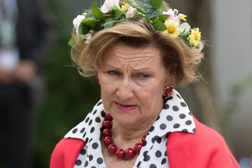 Queen Sonja Norwegian Royal Silver Jubilee Tour - Visit to Trondheim