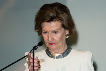 Queen Sonja Queen Sonja Of Norway At The Edvard Munch 'Love And Angst' Exhibition At The British Museum
