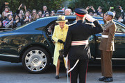 Queen Elizabeth II arrives at Goodenough College during a visit on December 1, 2016 in London, England.  Goodenough College is the leading residential community for British and international postgraduate students studying in London.
