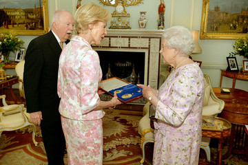 Quentin Bryce Michael Bryce Investitures Held at Buckingham Palace