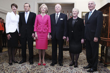 Quentin Bryce Michael Bryce Tony Abbott's Government Sworn in at Government House