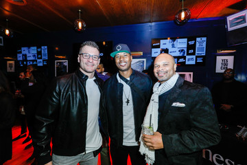 Quentin Richardson Stipe Miocic The Players' Tribune + Heir Jordan Host Players' Night Out At The Royale Party At Bounce Sporting Club In Chicago