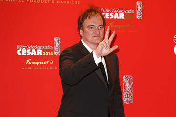 Quentin Tarantino Dinner At Le Fouquet's : Outside Arrivals - Cesar Film Awards 2014