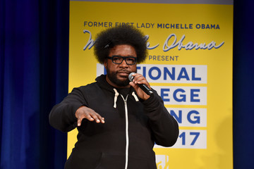Questlove MTV's 2017 College Signing Day with Michelle Obama - Inside