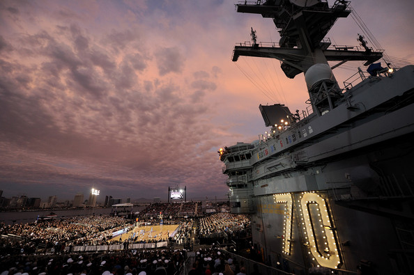 Photos From the Aircraft Carrier Basketball Game