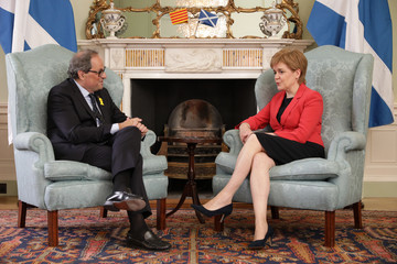 Quim Torra The Scottish First Minister Meets The President Of Catalonia