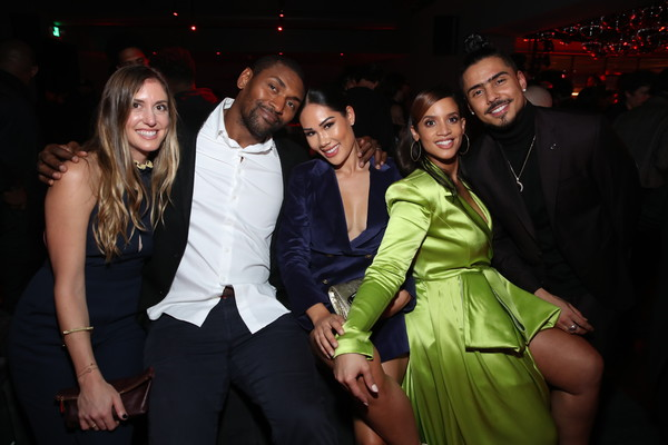 2019 GQ Men of the Year After Party Presented By Samsung At The West Hollywood EDITION [event,fashion,formal wear,fun,party,nightclub,suit,night,smile,gq men of the year after party,guest,maya ford,dascha polanco,metta world peace,edition,l-r,west hollywood,quincy,samsung]