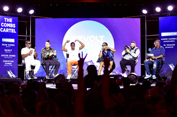 Revolt And AT&T Host Revolt 3-Day Summit In Atlanta – September 14 [performance,entertainment,stage,event,performing arts,public event,concert,fun,talent show,music,christian combs,sean ``diddy combs,justin combs,andre harrell,revolt,l-r,atlanta,quincy,at t,host revolt]