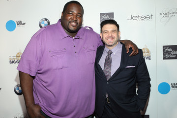 Quinton Aaron The Giving Back Fund's Big Game Big Give - Arrivals