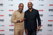 Jeff Johnson (L) and Van Jones attend the REVOLT X AT&T 3-Day Summit In Los Angeles - Day 1 at Magic Box on October 25, 2019 in Los Angeles, California.