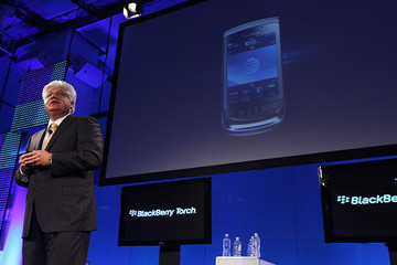Mike Lazaridis RIM And AT&T Announce New Touchscreen Blackberry