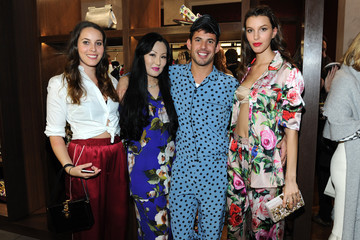 Rachel King Dolce & Gabbana Pyjama Party at 5th Avenue Boutique