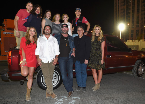 4th ACM Party for a Cause Festival - Day 2 - Backstage And Audience [vehicle,social group,car,luxury vehicle,event,family car,enzo devincenzo,lee brice,audience,bob romeo,boston gilbert,greyson ravella,row,l-r,acm party,cause festival]