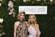 Delfina Blaquier and Rachel Zoe attend the Rachel Zoe Collection Summer Dinner At Moby's East Hampton With FIJI Water, Tanqueray, And AUrate on August 01, 2019 in East Hampton, New York.