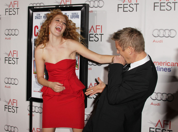 "Rachelle Lefevre Atress Rachelle Lefevre (L) and Actor Barry Pepper (R) arrive at the ""Casino Jack"" screening during AFI FEST 2010 presented by Audi held at Grauman's Chinese Theatre on November 8, 2010 in Hollywood, California."