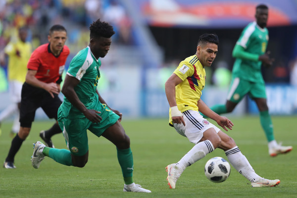 Senegal vs. Colombia: Group H - 2018 FIFA World Cup Russia [player,sports,sports equipment,football player,soccer player,team sport,ball game,football,sport venue,soccer,radamel falcao,russia,senegal,colombia,samara arena,group,colombia: group h - 2018 fifa world cup,match,2018 fifa world cup]