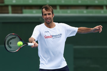 Radek Stepanek Davis Cup World Group First Round - Australia v Czech Republic: Practice Session