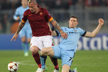 Radja Nainggolan AS Roma v Manchester City FC