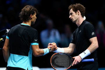 Rafael Nadal Andy Murray Barclays ATP World Tour Finals - Day Four
