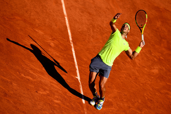 Nadal Serving at the French Open 2019