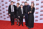 Actor Andy Serkis (2nd R), his wife Lorraine Ashbourne (2nd L) and their children Sonny Serkis (L), Louis Serkis (C) and Ruby Serkis (R) attend the Rakuten TV EMPIRE Awards 2018 at The Roundhouse on March 18, 2018 in London, England.