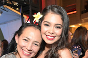 """Actors Irene Bedard (L) and Auli'i Cravalho attend the World Premiere of Disney's """"RALPH BREAKS THE INTERNET"""" at the El Capitan Theatre on November 5, 2018 in Hollywood, California."""