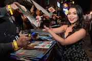 """Actor Auli'i Cravalho attends the World Premiere of Disney's """"RALPH BREAKS THE INTERNET"""" at the El Capitan Theatre on November 5, 2018 in Hollywood, California."""