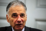"""Former presidential candidate Ralph Nader speaks during a news conference July 2, 2012 at Public Citizen in Washington, DC. Nader held a news conference to announce an """"upcoming limited general strike to protest the colonial status of the District of Columbia and to support D.C. statehood."""""""