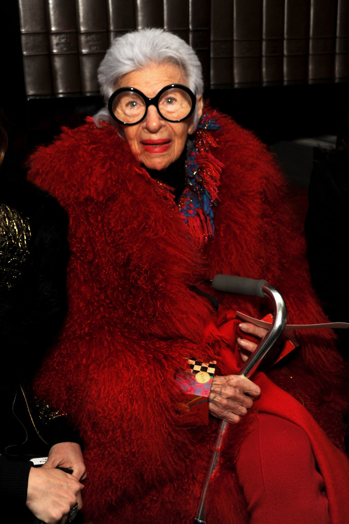 Iris Apfel In Front Row At The Ralph Rucci Show Zimbio