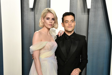 Rami Malek Lucy Boynton 2020 Vanity Fair Oscar Party Hosted By Radhika Jones - Arrivals