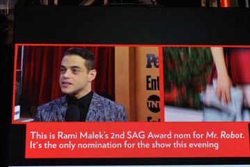 Rami Malek The 23rd Annual Screen Actors Guild Awards - Times Square Viewing