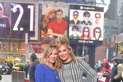 """Reality TV personalities and Real Housewives of New York City Ramona Singer (L) and Sonja Morgan visit """"Extra"""" at The Levi's Store Times Square on March 04, 2019 in New York City."""